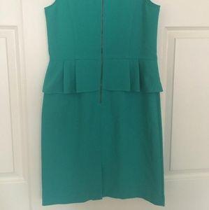 LOFT Dresses - Teal peplum dress from the loft.